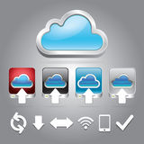 Cloud technology icons set. Stock Image