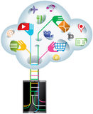Cloud technology Stock Photo