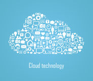 Cloud technology illustration Stock Photo