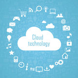Cloud technology illustration eps10 Royalty Free Stock Photos
