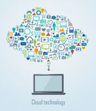Cloud technology illustration Royalty Free Stock Photography