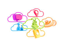 Cloud technology mobile application Stock Image