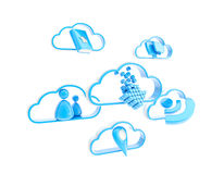 Cloud technology mobile application icons Royalty Free Stock Photography