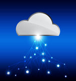Cloud technology network Royalty Free Stock Photography