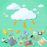 Cloud Technology Online Internet Data Information Stock Image