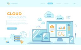Free Cloud Technology Services Data Center Connection Hosting Server Database Synchronize Storage Login Page And Password On Monitor Stock Images - 188090724