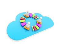 Cloud technology user connection glossy emblem isolated Royalty Free Stock Photography