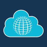 Cloud technology web language globe Royalty Free Stock Images