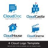 Cloud Template Design Vector. This design suitable for logo or icon Stock Photos