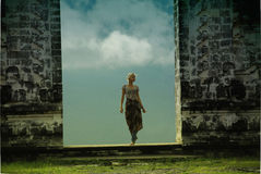 Cloud temple on Bali. Island Royalty Free Stock Photography