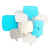 Cloud of text bubbles grouped as plate banner Stock Photography
