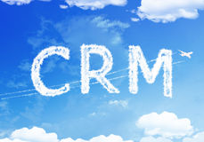 Cloud text : Customer relationship management (CRM) on the sky. Royalty Free Stock Photo