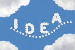 Cloud,texts box. Cloud on blue background,idea box Stock Image