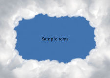 Cloud,texts box. Cloud on blue background,idea box Royalty Free Stock Image