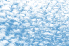 Cloud texture on a blue sky background Royalty Free Stock Photo
