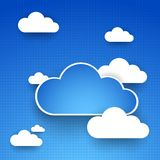 Cloud theme vector background. Royalty Free Stock Photo