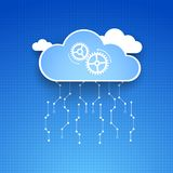 Cloud theme vector background. Stock Photo