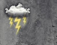Cloud with three lightning Stock Photos