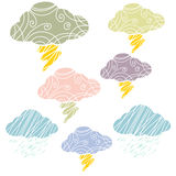 Cloud and thunder Art Royalty Free Stock Images