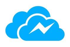 Cloud thunderbolt logo. Cloud thunderbolt computing data upload access logo vector dsign concept Royalty Free Stock Photo