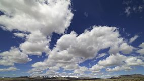 Cloud time lapse in Nevada desert. A cloud time lapse in the Nevada desert stock video footage