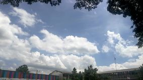 Cloud time-lapse. At school, Sisaket province,Thailand stock video footage