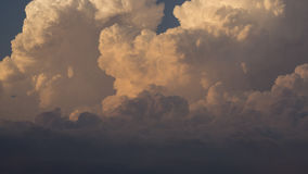 Cloud timelapse. Timelapse of clouds at sunset stock footage