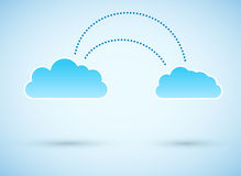 Cloud to cloud connection. Vector illustration Stock Images
