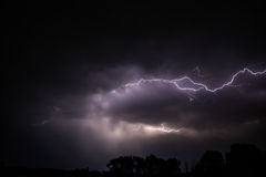 Cloud to cloud lightening Royalty Free Stock Image