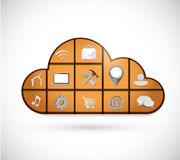 Cloud and tools icons illustration Stock Photos