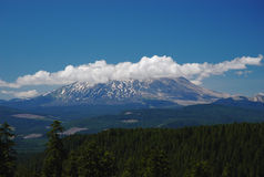 Cloud on top of Mt. Saint Helen Royalty Free Stock Photography