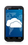 Cloud touch screen phone Stock Photo