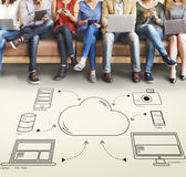 Cloud Transfer Data Connection Network Concept Royalty Free Stock Photography