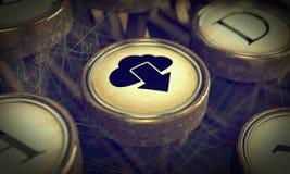 Cloud Typewriter Key. Grunge Background. Royalty Free Stock Image