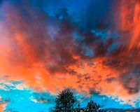 Free Cloud Typology, Sunset In Middle Of October In New Brunswick, Canada Royalty Free Stock Photos - 130481598