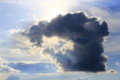 Cloud with unusual shape Stock Photography