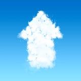 Cloud in up arrow shape on blue sky Stock Image