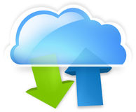 Cloud up and download Royalty Free Stock Photos