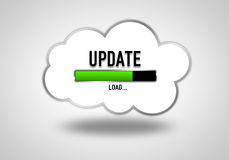 Cloud Update. Concept with loading bar Stock Photography