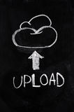 Cloud upload Stock Photography