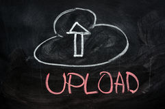 Cloud upload Stock Photo