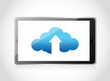 Cloud upload and arrow illustration design Stock Image