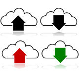 Cloud upload and download Royalty Free Stock Photos