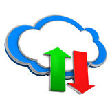Cloud Upload Download Stock Images