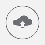 Cloud upload icon vector, solid illustration, pictogram isolated on gray. Royalty Free Stock Images