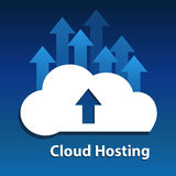 Cloud upload. Royalty Free Stock Image