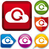 Cloud uploading icon Stock Image