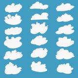 Cloud vector cartoon icon set Royalty Free Stock Photos