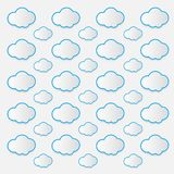 Cloud vector icon set white color on white background vector illustration
