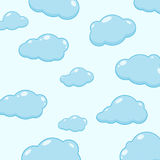 Cloud vector icons. Abstract background with cartoon cloudy. Cloud vector icons. Sky blue atmospheric bubbles. Comic nature cloudscape weather symbols. Cute Royalty Free Stock Image